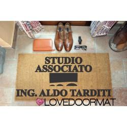 Personalized Doormat - Studio Engineer, Your Name, Symbol - internal use, in natural coconut cm. 100x50x2 LOVEDOORMAT Registered Trademark Handmade in Italy