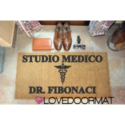 Personalized Doormat - Dentist office and Your Name - internal use, in natural coconut cm. 100x50x2 LOVEDOORMAT Registered Trademark Handmade in Italy