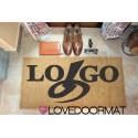 """Custom indoor doormat """"Tuo Logo"""" in cocco naturale cm. 100x50x2 LOVEDOORMAT Marchio Registrato Handmade in Italy"""