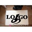 "Custom carpet ""Tuo Logo"" in Feltro e gomma cm. 100x50x0,3 LOVEDOORMAT Marchio Registrato Handmade in Italy"