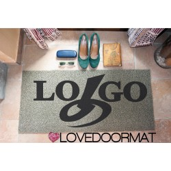 "Custom outdoor doormat ""Tuo logo"" in Pvc cocco gomma cm. 100x60x1,4 LOVEDOORMAT Marchio Registrato Handmade in Italy"