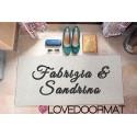 "Custom outdoor doormat ""2 Nomi"" in Pvc cocco gomma cm. 100x60x1,4 LOVEDOORMAT Marchio Registrato Handmade in Italy"
