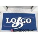 Customized doormat for company - Tuo Logo - PPL inlay cm. 100x60x1,4 LOVEDOORMAT Registered Trademark Handmade in Italy