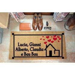 Custom indoor doormat - Glory house - in natural coconut  LOVEDOORMAT Registered Trademark Handmade in Italy