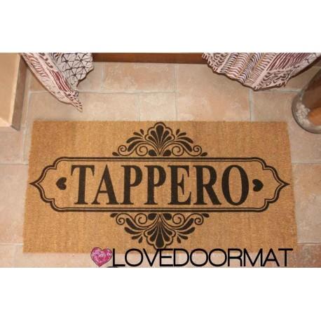 Custom indoor doormat - Grange - in natural coconut LOVEDOORMAT Registered Trademark Handmade in Italy