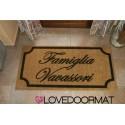Custom indoor doormat - Very Classic - in natural coconut cm. 100x50x2 LOVEDOORMAT Registered Trademark Handmade in Italy