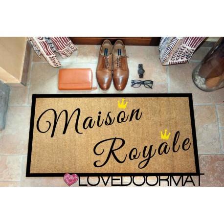 Custom indoor doormat - Royal House - in natural coconut LOVEDOORMAT Registered Trademark Handmade in Italy