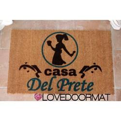Custom indoor doormat - Angel of the House - Mother's Day - in natural coconut cm. 100x50x2 LOVEDOORMAT Registered Trademark Handmade in Italy