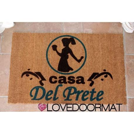 Custom indoor doormat - Angel of the House - Mother's Day - in natural coconut LOVEDOORMAT