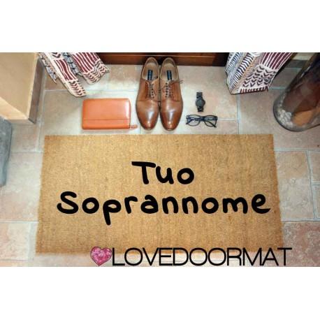 Custom indoor doormat - Your Nickname - in natural coconut LOVEDOORMAT Registered Trademark Handmade in Italy