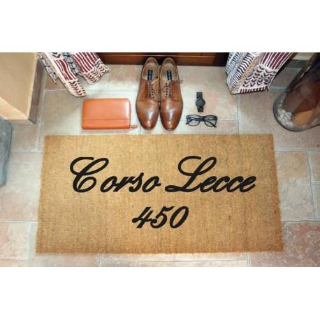 Custom indoor doormat - Your address - in natural coconut LOVEDOORMAT Registered Trademark Handmade in Italy