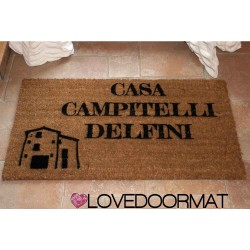 Kundenspezifische Innenfußmatte - Ihr Haus- oder Bauernhausname - natürliche Kokosnuss cm. 100x50x2 LOVEDOORMAT Eingetragenes Warenzeichen Handgefertigt in Italieny