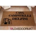 Custom indoor doormat - Your House or Farmhouse Name - in natural coconut cm. 100x50x2 LOVEDOORMAT Registered Trademark Handmade in Italy