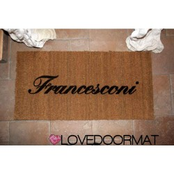 Paillasson d'intérieur personnalisé - Votre nom - noix de coco naturelle cm. 100x50x2 LOVEDOORMAT Marque déposée à la main en Italie