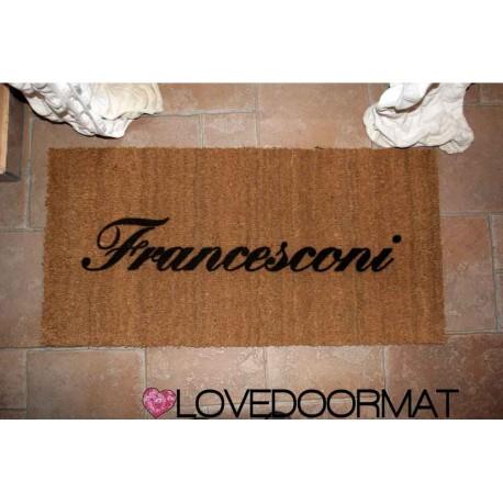 Custom indoor doormat - Your Surname - in natural coconut LOVEDOORMAT Registered Trademark Handmade in Italy