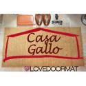 Custom indoor doormat - Your Name Your House - in natural coconut cm. 100x50x2 LOVEDOORMAT Registered Trademark Handmade in Italy