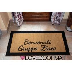 Zerbino Personalizzato da interno - Bordi, Benvenuti - in cocco naturale cm. 100x50x2 LOVEDOORMAT Marchio Registrato Handmade in Italy