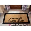 Custom indoor doormat - Borders, Welcome- in natural coconut cm. 100x50x2 LOVEDOORMAT Registered Trademark Handmade in Italy