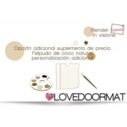 Additional options additional price for Personalized Doormat in natural coconut