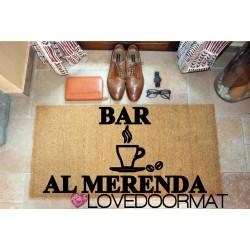 Custom indoor doormat - Bar Cafeteria and Your Name - in natural coconut cm. 100x50x2 LOVEDOORMAT Registered Trademark Handmade in Italy