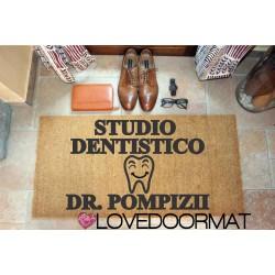 Custom indoor doormat - Dentist Office Smile, Your Name, profession symbol - in natural coconut cm. 100x50x2 LOVEDOORMAT Registered Trademark Handmade in Italy
