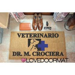 Personalized Doormat - Veterinary Office - internal use, in natural coconut cm. 100x50x2 LOVEDOORMAT Registered Trademark Handmade in Italy