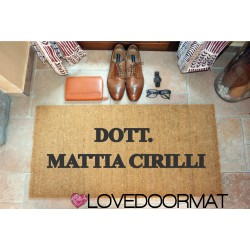 Personalized Doormat - Professional Firm and Your Name - internal use, in natural coconut cm. 100x50x2 LOVEDOORMAT Registered Trademark Handmade in Italy